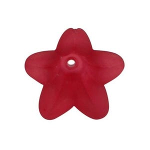 Red Lucite Flower Beads 12mm x 16mm Pack Of 30 HA26665