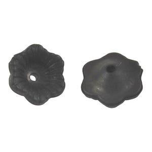 Black Lucite Flower Beads 4mm x 11mm Pack Of 100+ HA26670