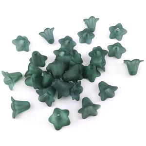Teal Lucite Flower Beads 12mm x 16mm Pack Of 30 HA26845