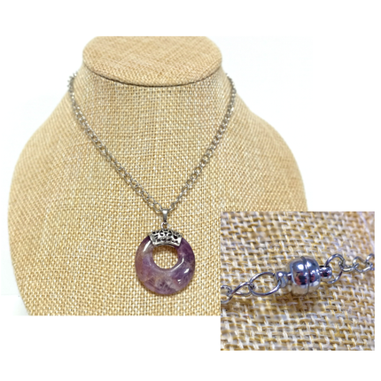 Magnetic Clasp Necklace Tutorial