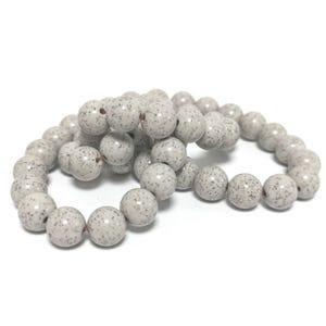 Beige Hokutolite Grade AAA Plain Round Beads 8mm Strand Of 45+ Pieces TD1030