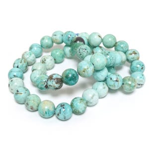 Turquoise Grade AA Plain Round Beads 8mm Strand Of 45+ Pieces TD1045