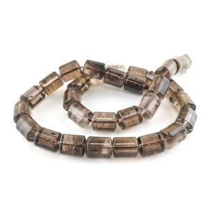 Brown Smoky Quartz Grade A Triangular Drum Beads 10mm x 13mm Strand Of 30+ Pieces TD1070