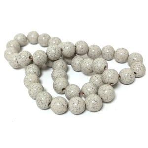 Beige Hokutolite Grade AAA Plain Round Beads 10mm Strand Of 38+ Pieces TD1075