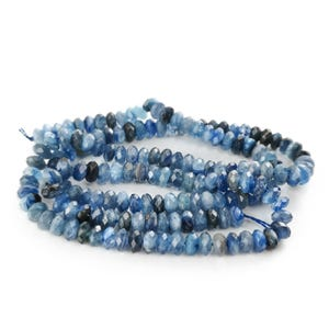 Blue Kyanite Grade AAA Faceted Rondelle Beads 3mm x 4mm Strand Of 150+ Pieces TD1080