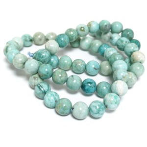 Turquoise Grade A Plain Round Beads 6.5mm Strand Of 60+ Pieces TD1140
