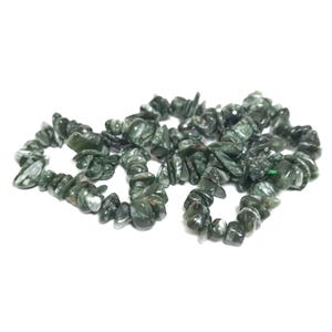 Green Seraphinite Grade A Chip Beads Approx 4-10mm Strand Of 150+ Pieces TD1155