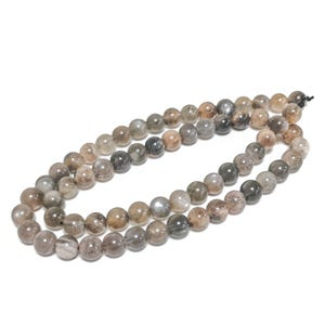 Grey/Brown Black Moonstone Grade A Plain Round Beads 6mm Strand Of 60+ Pieces TD1165