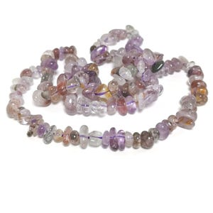 Purple Super 7 Cacoxenite Grade A Chip Beads Approx 3-8mm Strand Of 130+ Pieces TD1190
