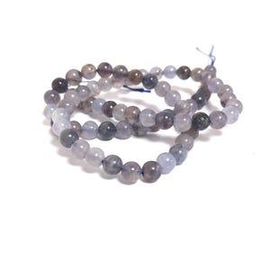 Indigo/Lilac Iolite Grade A Plain Round Beads 6mm Strand Of 60+ Pieces TD1235