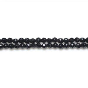 Black Onyx Grade A Faceted Round Beads 3mm Pack Of 15 VP1060