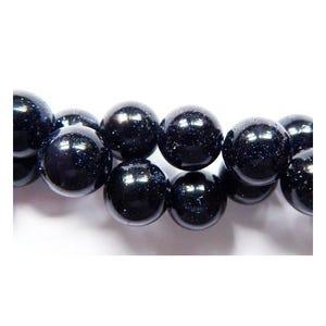 Blue Goldstone Plain Round Beads 6mm Pack Of 10 VP1580