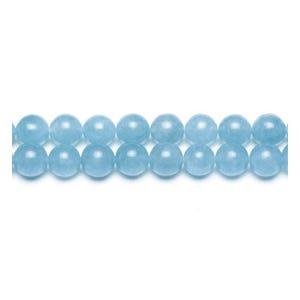 Cyan Malaysian Jade Grade A Plain Round Beads 8mm Pack Of 8 VP1825