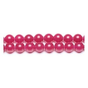 Fuchsia Malaysian Jade Grade A Plain Round Beads 8mm Pack Of 8 VP2155