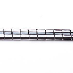 Grey Hematite (Non Magnetic) Grade A Plain Tube Beads 4mm x 8mm Pack Of 8 VP2195