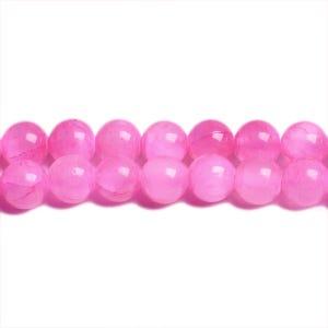 Fuchsia Mashan Jade Grade A Plain Round Beads 8mm Pack Of 8 VP2705