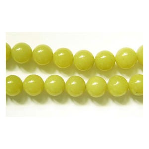 Yellow Serpentine Grade A Plain Round Beads 6mm Pack Of 10 VP2830
