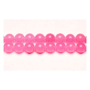 Bright Pink Malaysian Jade Grade A Plain Round Beads 4mm Pack Of 12 VP2860