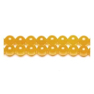 Dull Yellow Malaysian Jade Grade A Plain Round Beads 6mm Pack Of 10 VP3030
