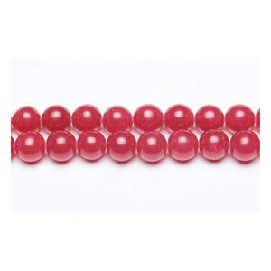 Dark Red Malaysian Jade Grade A Plain Round Beads 6mm Pack Of 10 VP3120