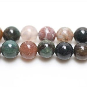 Multicolour Fancy Jasper Grade A Plain Round Beads 4mm Pack Of 12 VP3265