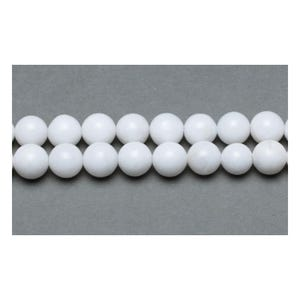 White Malaysian Jade Grade A Plain Round Beads 6mm Pack Of 10 VP3280