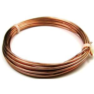 Copper Craft Wire Unplated Anti Tarnish 3m Coil 1.25mm Thick W1125