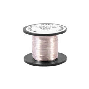 Copper Craft Wire Silver Plated 20m Coil 0.4mm Thick W2040