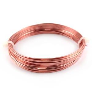 Square Copper Craft Wire Unplated Anti Tarnish 6m Coil 0.8mm Thick W4080