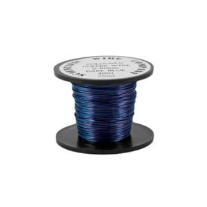 Copper Craft Wire Dark Blue Enamelled 15m Coil 0.5mm Thick W5001