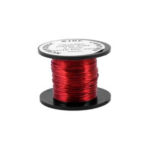 Copper Craft Wire Bright Red Enamelled 15m Coil 0.5mm Thick W5003
