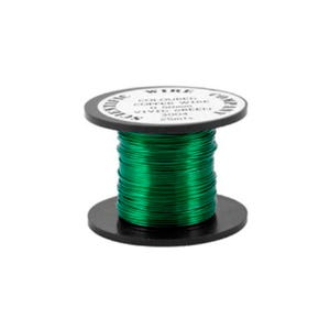 Copper Craft Wire Dark Green Enamelled 15m Coil 0.5mm Thick W5004