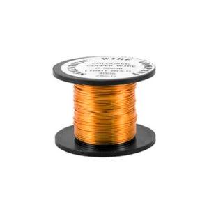 Copper Craft Wire Orange/Golden Enamelled 15m Coil 0.5mm Thick W5006