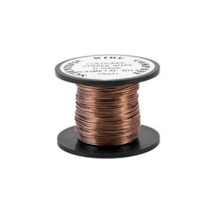 Copper Craft Wire Taupe Enamelled 15m Coil 0.5mm Thick W5013