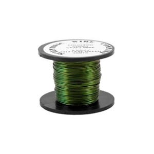 Copper Craft Wire Green Enamelled 15m Coil 0.5mm Thick W5014