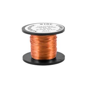 Copper Craft Wire Pale Bronze Enamelled 15m Coil 0.5mm Thick W5016