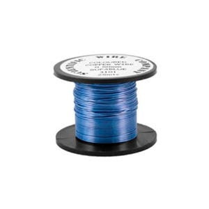 Copper Craft Wire Pale Blue Enamelled 15m Coil 0.5mm Thick W5101