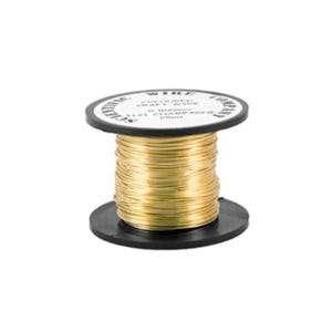 Copper Craft Wire Pale Gold Enamelled 15m Coil 0.5mm Thick W5121