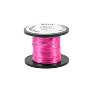 Copper Craft Wire Bright Pink Enamelled 15m Coil 0.5mm Thick W5122
