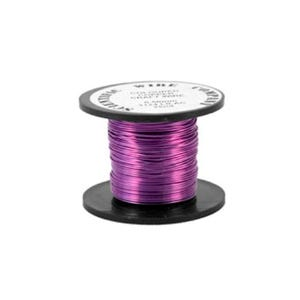 Copper Craft Wire Lilac Enamelled 15m Coil 0.5mm Thick W5124