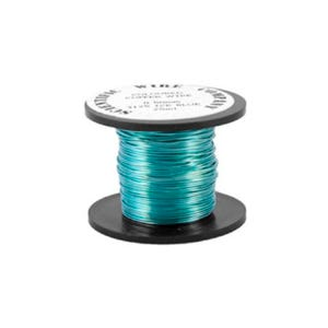 Copper Craft Wire Cyan Enamelled 15m Coil 0.5mm Thick W5125