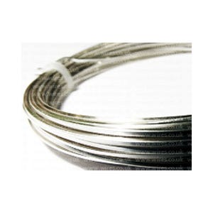 Square Copper Craft Wire Silver 925 Plated 6m Coil 0.8mm Thick W6080