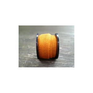 Knitted Mesh Copper Craft Wire Orange/Golden Enamelled 1m Flat Tube 15mm Thick W7006