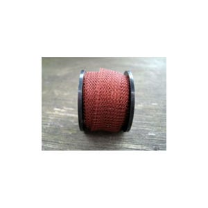 Knitted Mesh Copper Craft Wire Brown Enamelled 1m Flat Tube 15mm Thick W7012