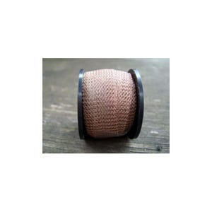 Knitted Mesh Copper Craft Wire Pale Taupe Enamelled 1m Flat Tube 15mm Thick W7013