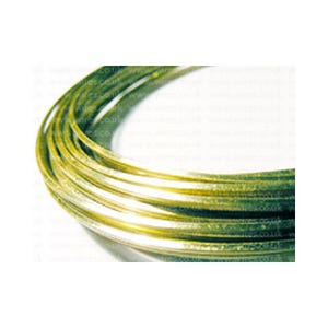 Square Brass Craft Wire Golden Anti Tarnish 6m Coil 0.8mm Thick W8080