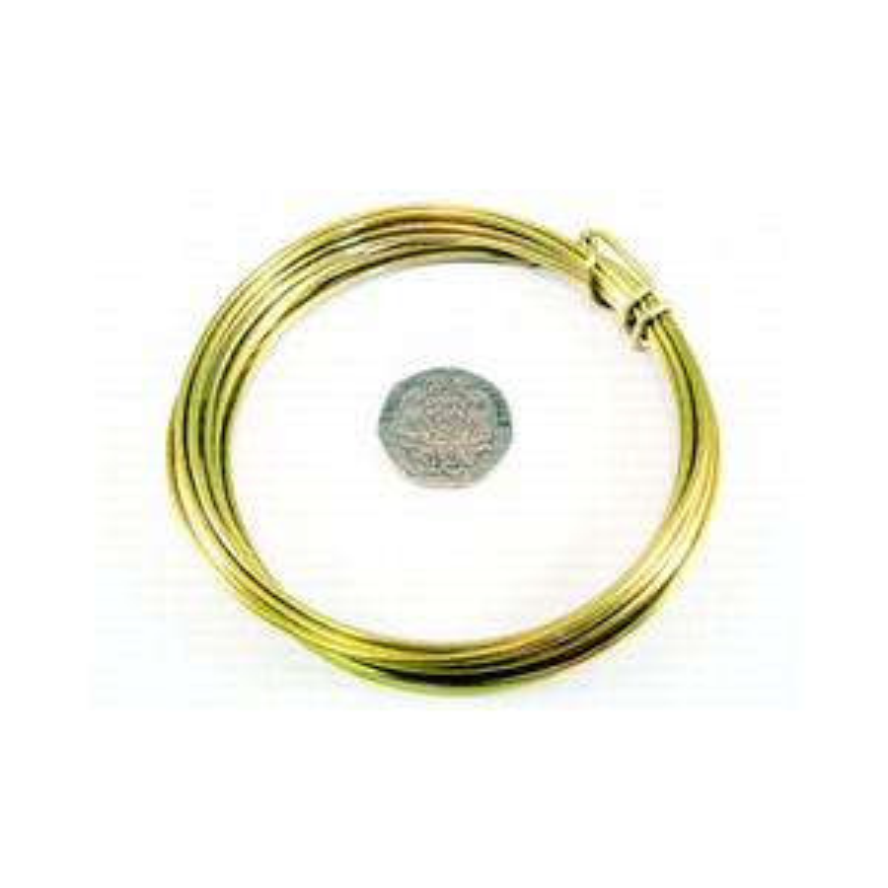 Brass Craft Wire Golden Anti Tarnish 6m Coil 0.8mm Thick W9080