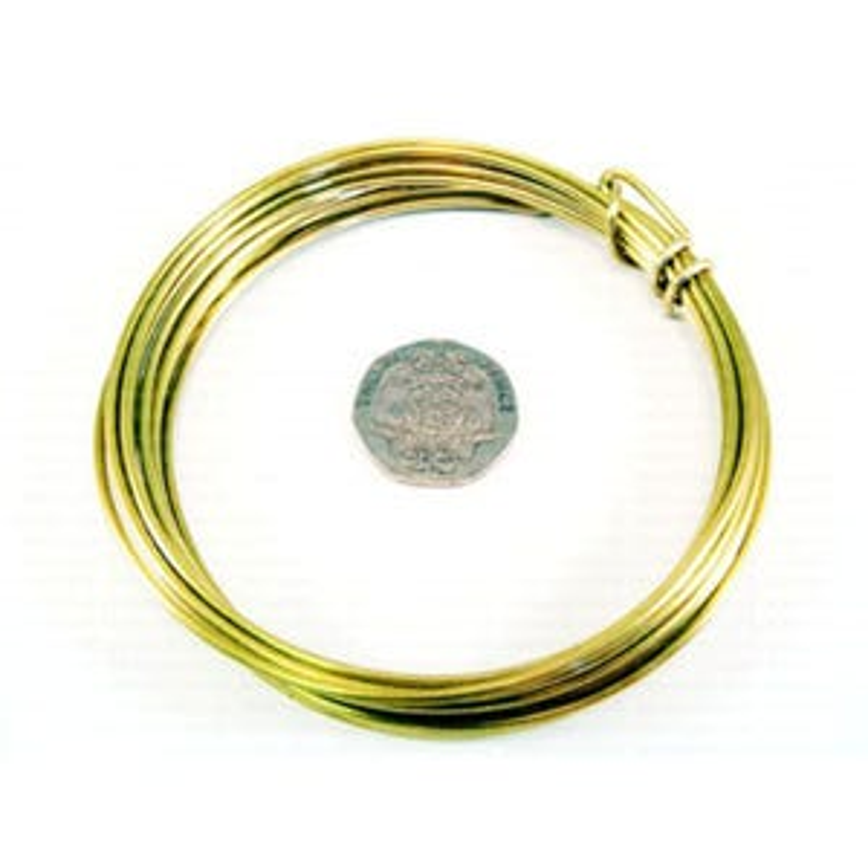 Brass Craft Wire Golden Anti Tarnish 3m Coil 1.25mm Thick W9125