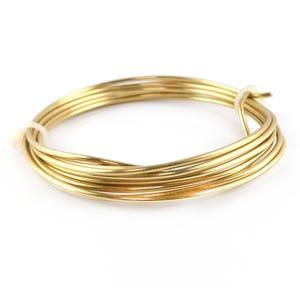 Brass Craft Wire Golden Anti Tarnish 1.75m Coil 1.5mm Thick W9150