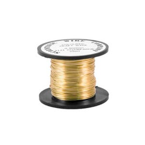 Copper Craft Wire Golden Enamelled 20m Coil 0.4mm Thick WG040